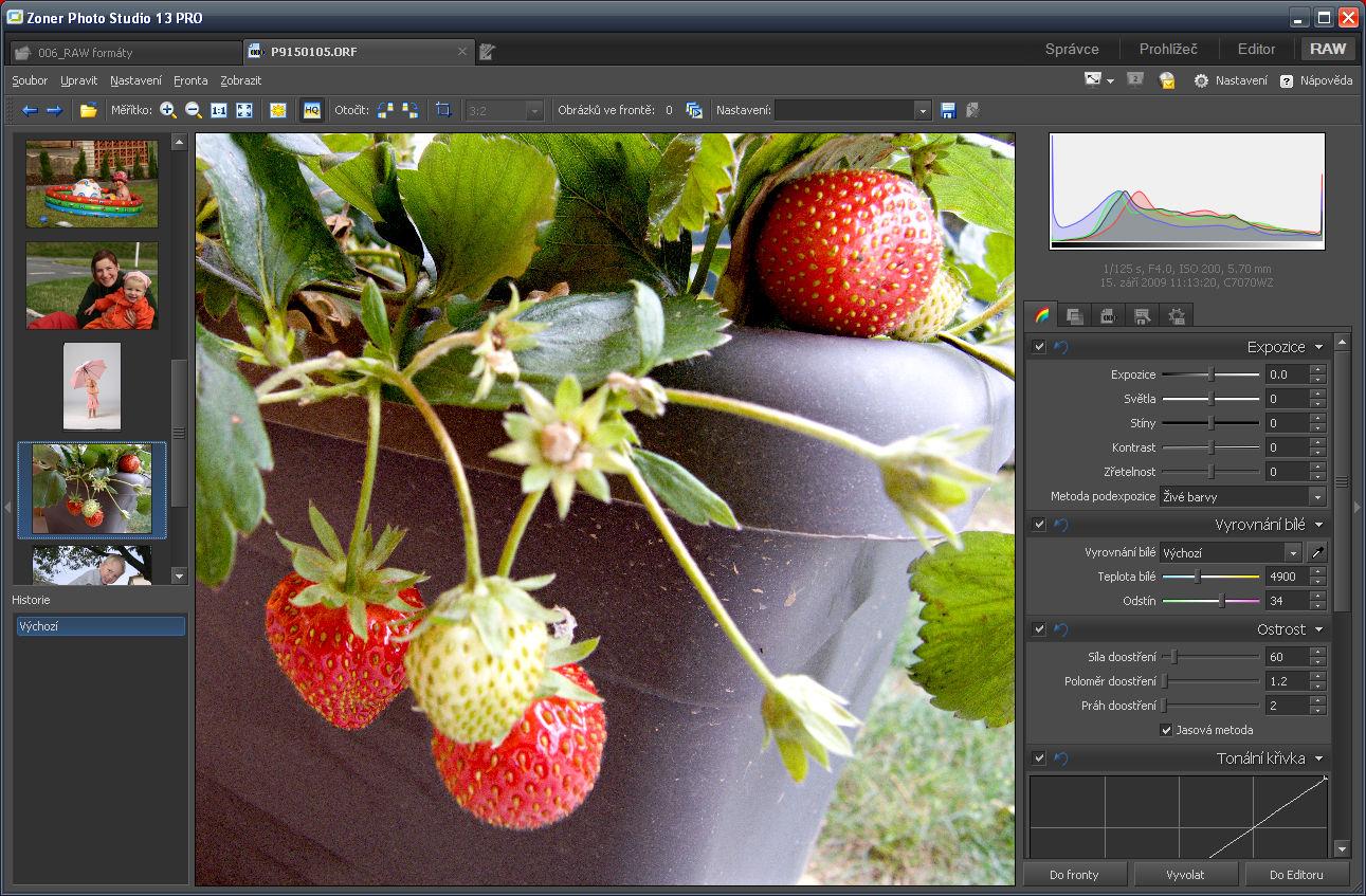Nyní již můžete v RAW modulu Zoner Photo Studia zpracovávat i RAW formáty typu ORF a mnoho dalších.jpg
