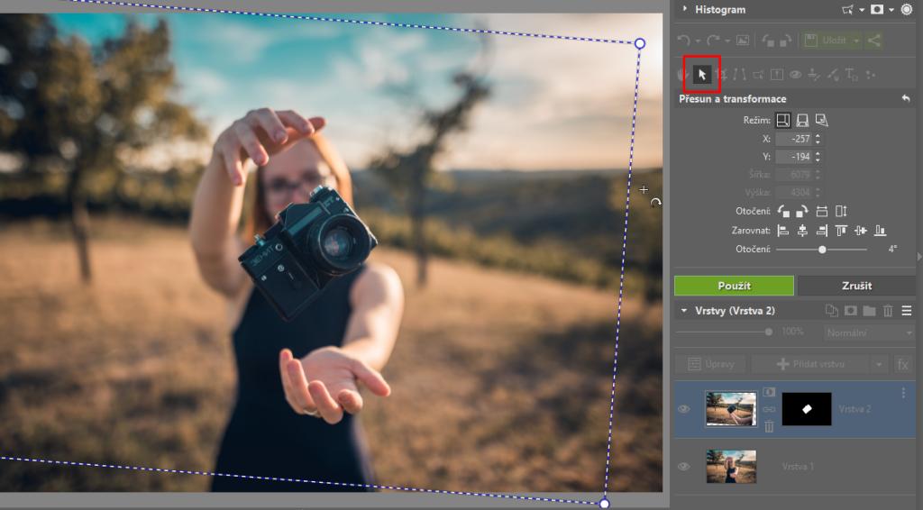 Jak vložit fotku do fotky - úprava vloženého obrázku