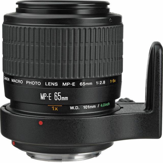 Objektiv Canon MP-E 65 mm f/2.8 se zvětšením až 5:1.
