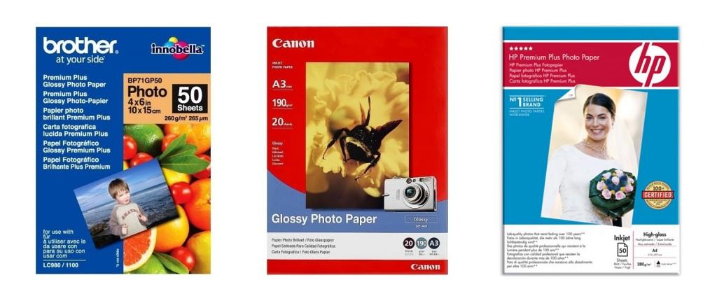 Každý výrobce tiskárny dodává vlastní fotopapíry, a to hned v několika řadách, podle typu použití