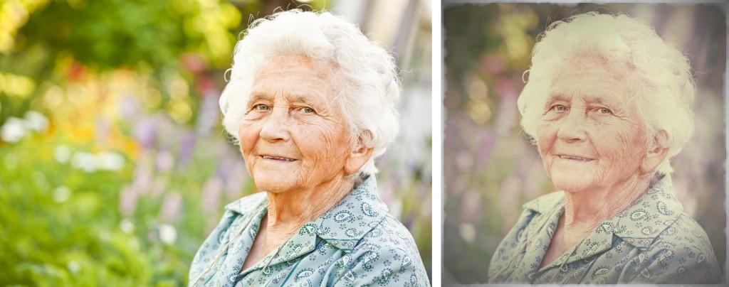 Vlevo původní fotografie, vpravo snímek po úpravách