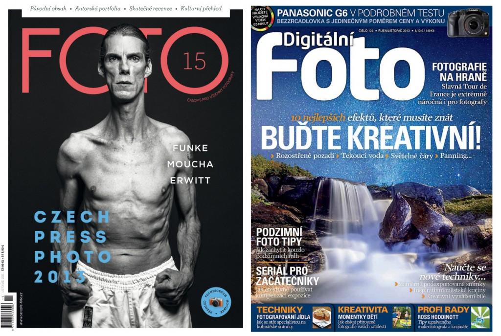 Dva nejlepší fotografické časopisy v ČR - FOTO a Digitální fotografie magazín