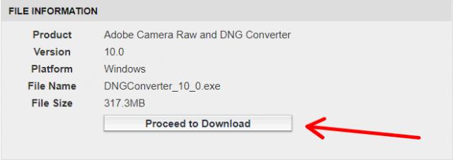 Propojení DNG konvertoru se Zoner Photo Studiem: Stažení DNG konvertoru.