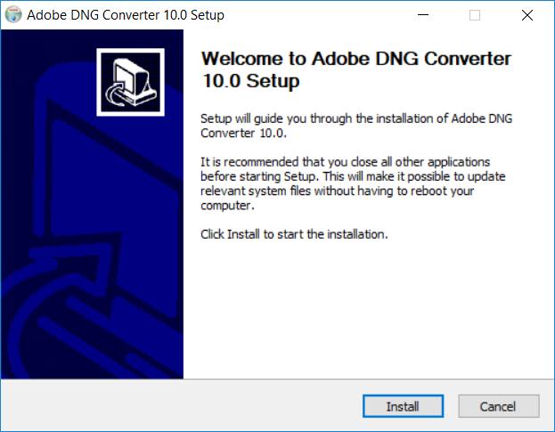 Propojení DNG konvertoru se Zoner Photo Studiem: Instalace DNG konvertoru.