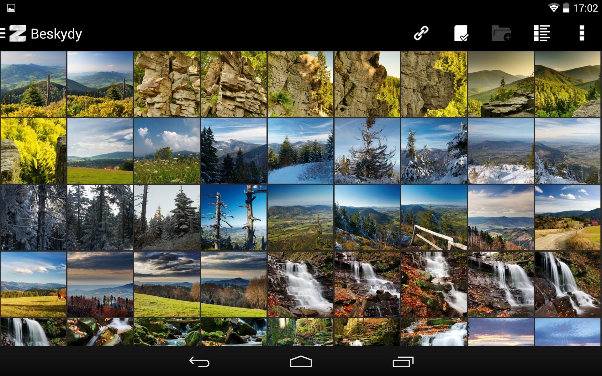 ZPS – Edit & Go na Androidu, galerie na Zoneramě