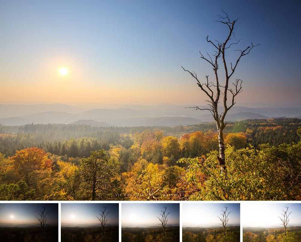 Jeden obrázek složený z pěti fotografií. Canon 5D Mark III, Canon EF 16-35/2.8 II, 1/800 až 1/50 s, F9, ISO 400, ohnisko 16 mm