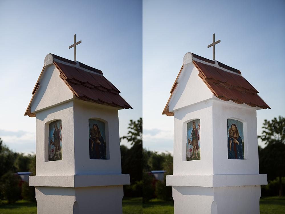 Vlevo fotografie bez blesku, vpravo se zapnutým bleskem pro zjasnění tmavých stínů. Canon 5D Mark III, Canon EF 24-70/2.8, 1/2000 s, F2,8, ISO 100, ohnisko 70 mm