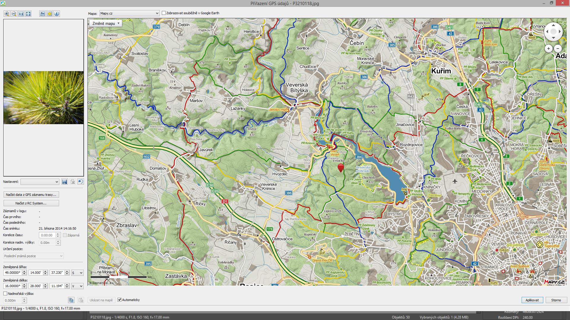 Turistické mapy od Mapy.cz