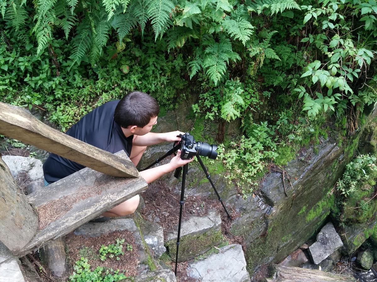 Já při focení vodopádů autor Radim Jevický, mobilní telefon LG G2