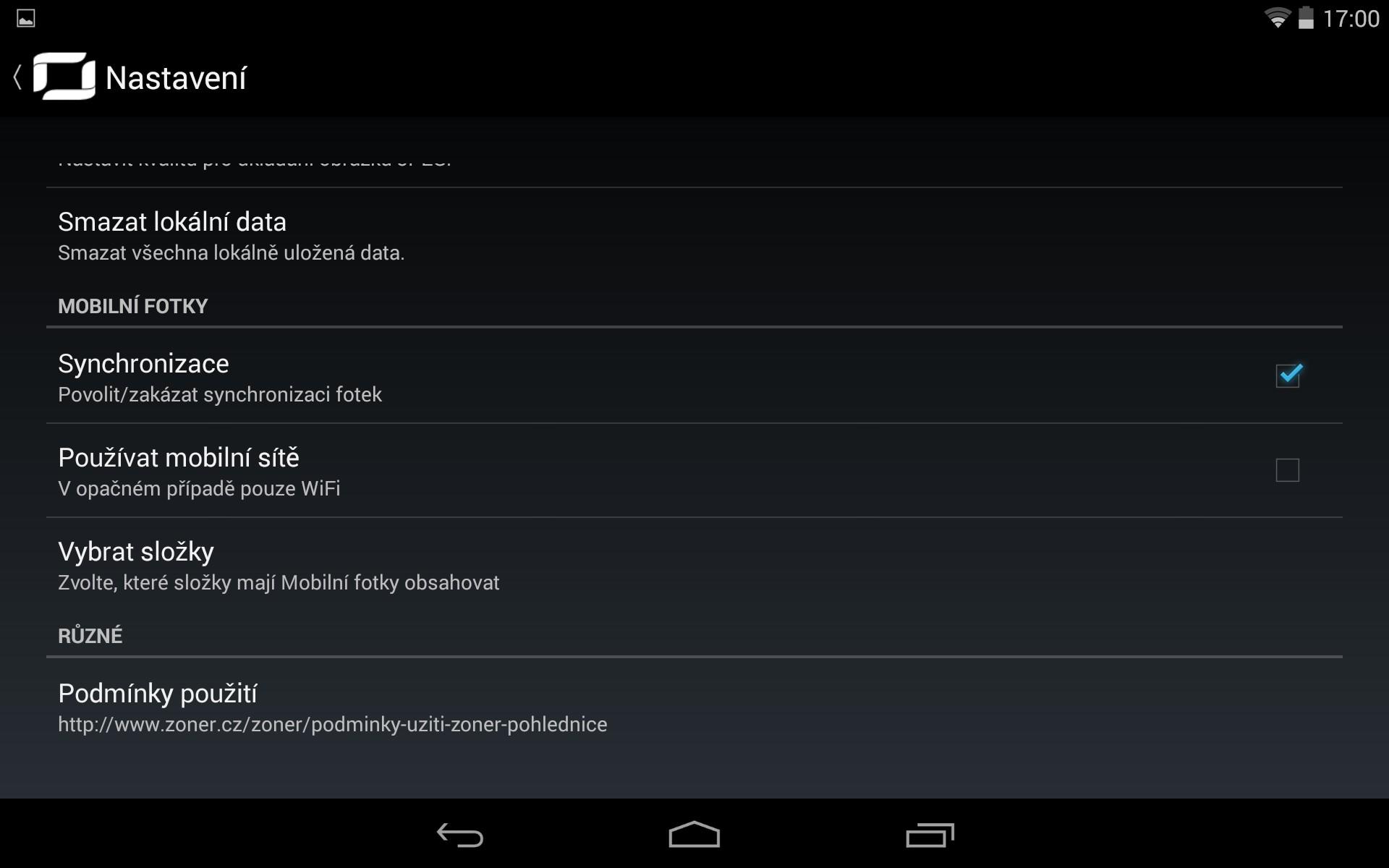 Nastavení synchronizace ZPS na Androidu