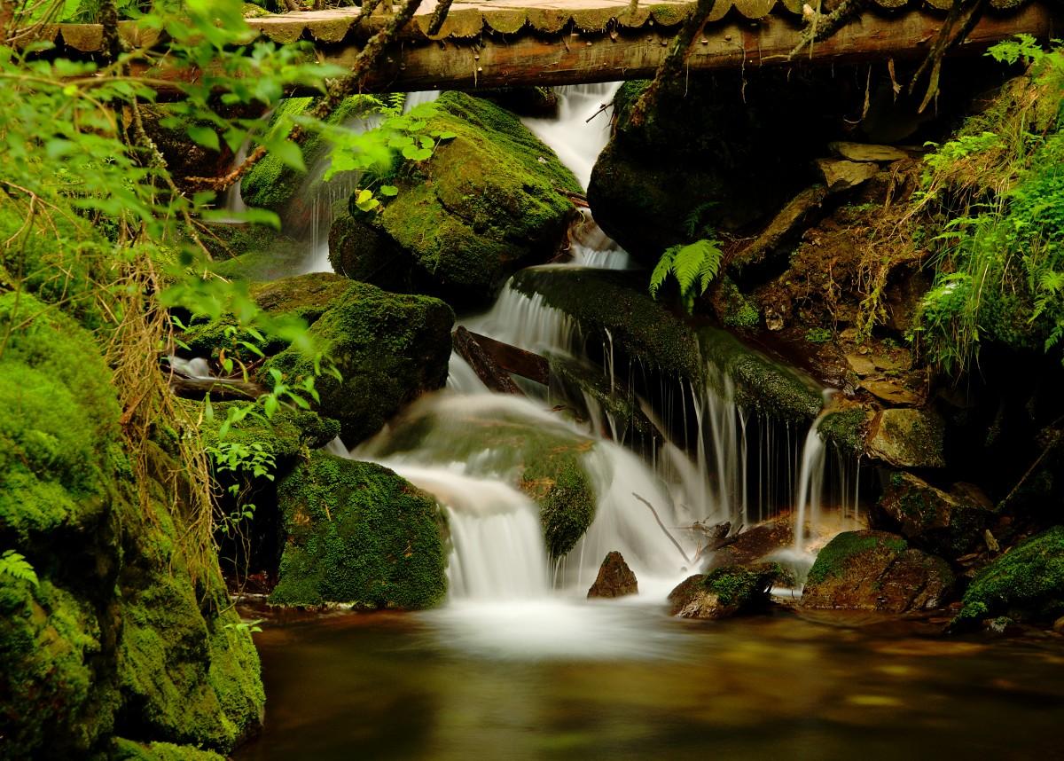Vodopád Bílé Opavy autor Jakub Chrudina, Nikon D90 + Nikkor 18-105, stativ, filtry