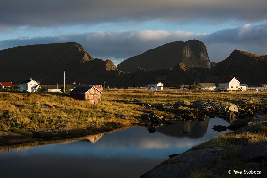 Barvy arktické tundry, Lofoty, Norsko