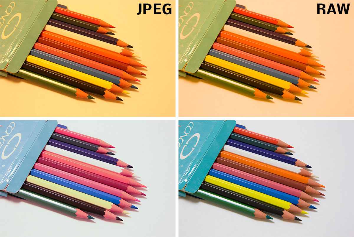 JPEG i RAW se špatně nastavenou bílou (nahoře) a po korekci na PC tak, aby podkladový papír byl zcela bílý (dole). Canon 5D Mark III, Canon 24-70/2,8, 1,0 s, F18, ISO 200, ohnisko 58 mm