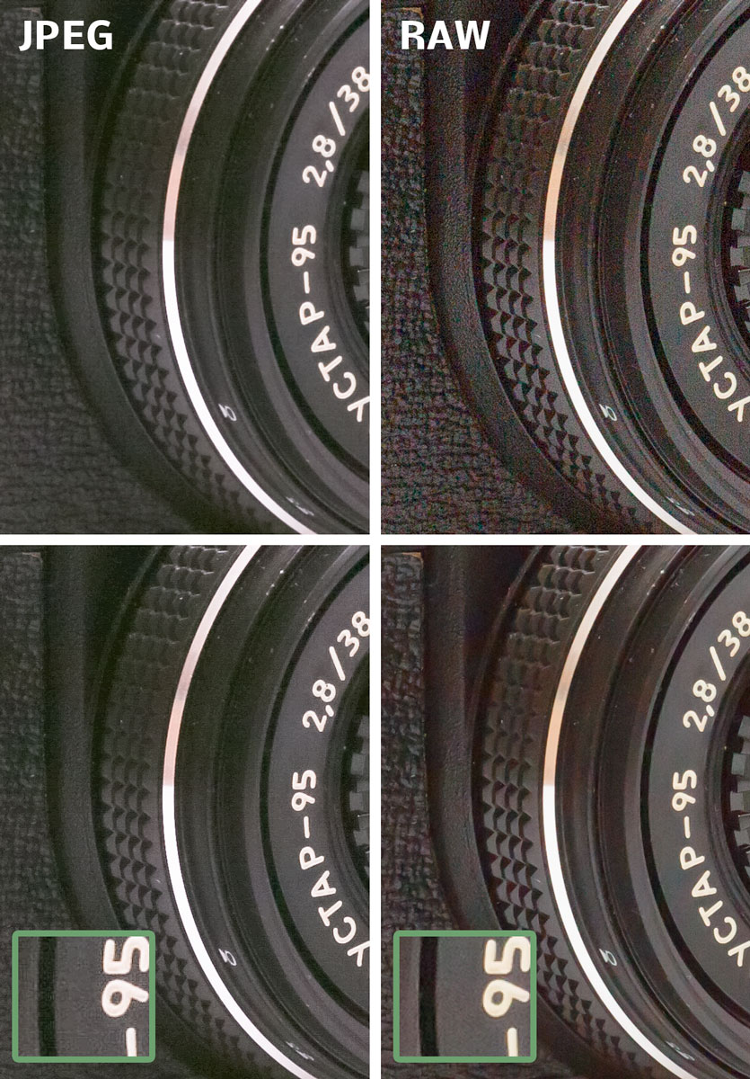 Výsledek zesvětlení v JPEG vlevo a v RAW vpravo.jpg