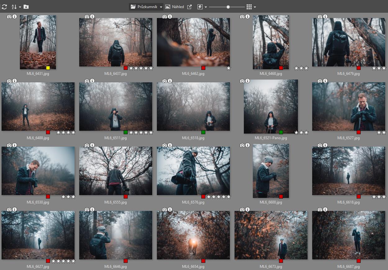 Úklid fotoarchivu: Třídění fotografií pomocí značek a hodnocení