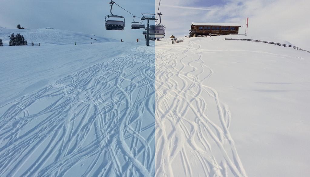 Koláž z fotek před a po úpravě.