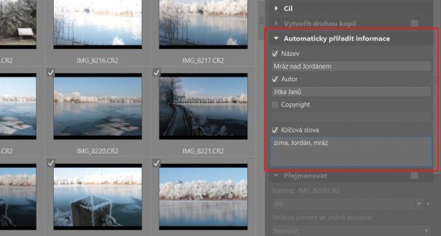 Organizace fotografií: import fotek do ZPS.