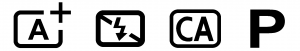 Automatické režimy u digitálních zrcadlovek Canon. Plně automatický režim, automatický režim se zakázaným bleskem, kreativní automatika a programová automatika.