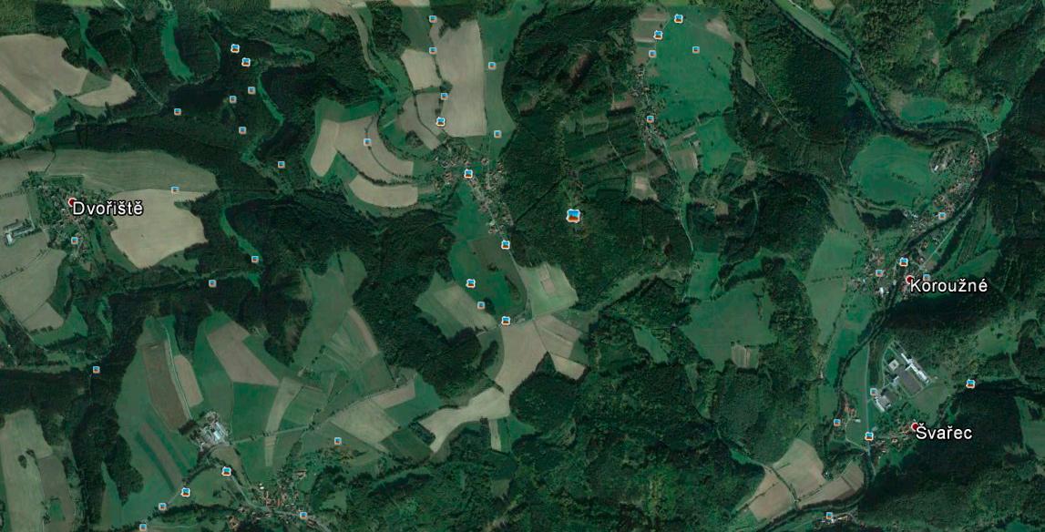 Snímek z Google Earth Pro