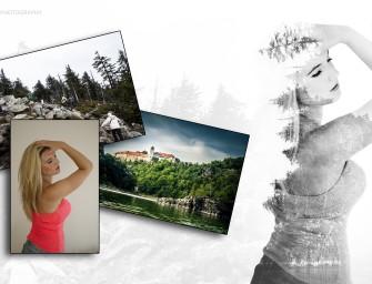 """Netradiční """"krajinoportrét"""" vytvořený pomocí dvojexpozice"""