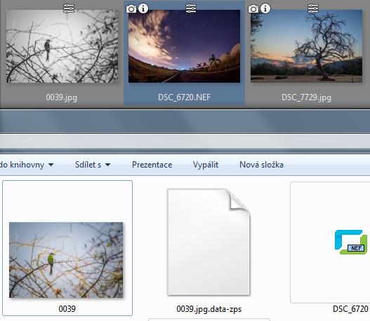 Porovnání zobrazení v ZPS a ve Windows