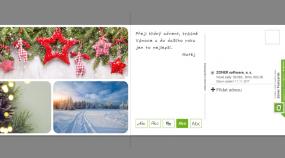 Připravte si vlastní pohlednici s vánočním přáním. Zvládnete to ze svého počítače
