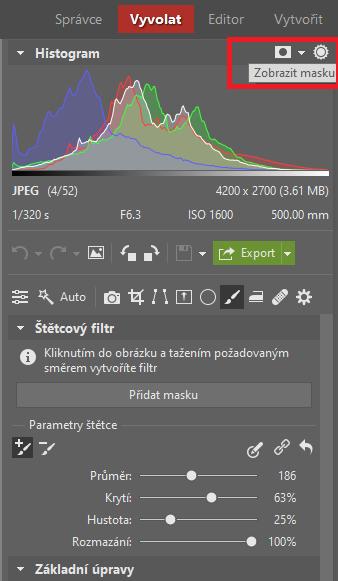 Štětcový filtr: Mějte naprostou kontrolu nad každou částí fotky