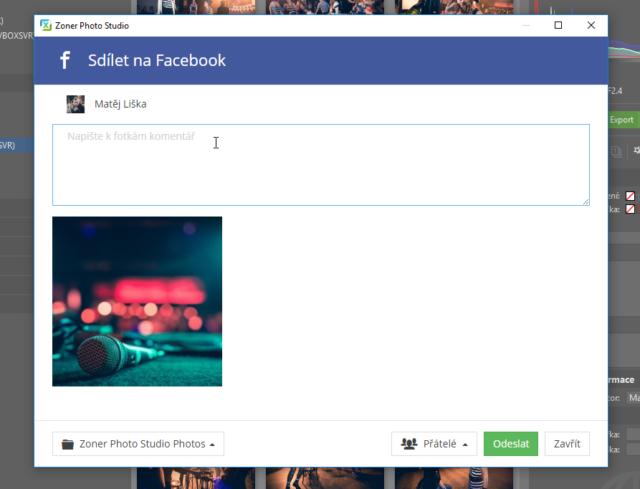 Vložení textury na Facebook.