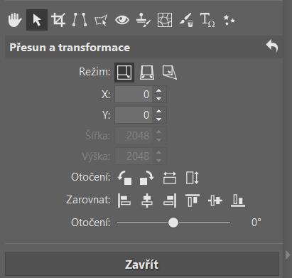 Jak pracovat v ZPS X s vrstvami - přesun a transformace