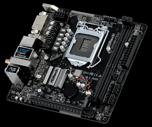PC pro fotografy: Základní deska ASRock H310M-ITX/ac.