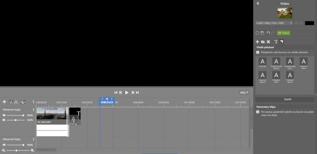 Stříhání videa v ZPS X: přechody.