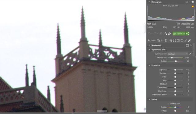 Úprava fotografií v protisvětle - chromatická aberace