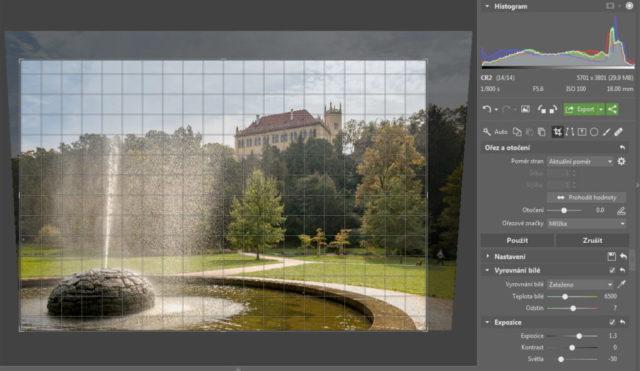 Úprava fotografií v protisvětle - oříznutí fotky
