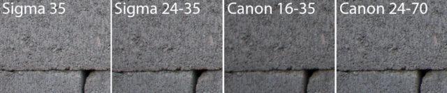 Test objektivů: test ostrosti Sigma a Canon - roh.