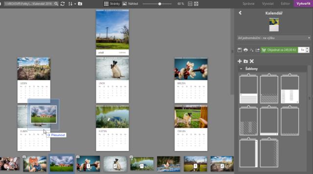 Vytvořte vlastní fotodárky: tvorba fotokalendáře.