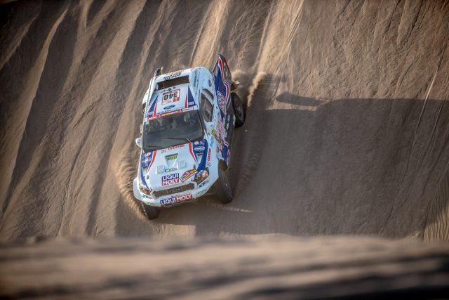 Focení Rallye Dakar: Ouředníček-Křípal 5. etapa - kapota