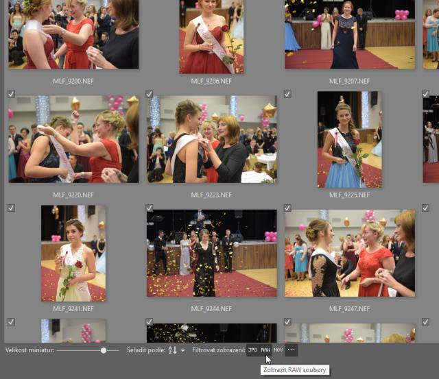 Jak stáhnout fotky do počítače: filtrování souborů pro import do Zoner Photo Studia.
