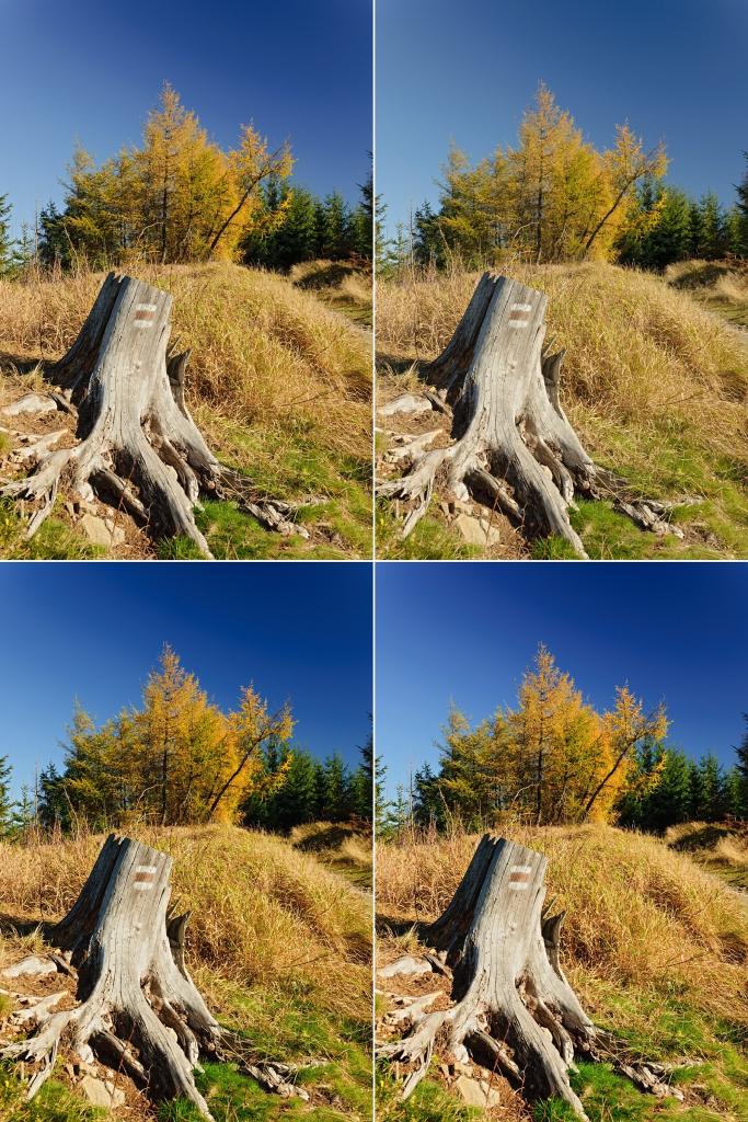 Foto s použitím různých DCP.