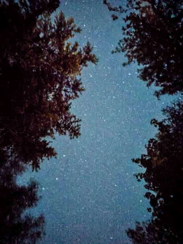 Jak fotit mobilem: snímek hvězd pořízený ve formátu RAW mobilním telefonem.