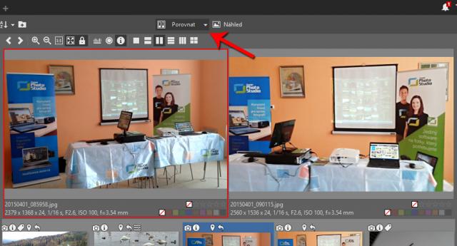 Organizace fotek z fotobank: porovnání snímků v Zoner Photo Studiu.