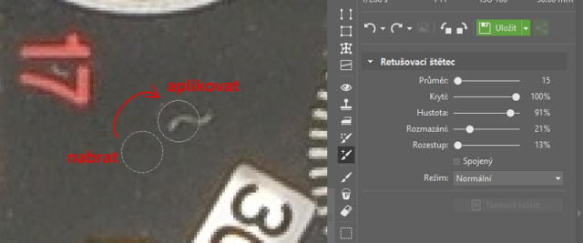 Retuš produktových fotek: postup retuší.