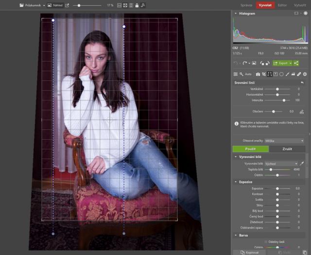 Jak upravovat portréty: srovnání linií.