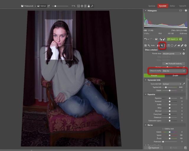 Jak upravovat portréty: ořez a otočení.