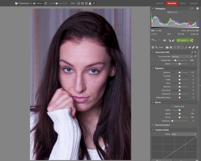 Jak upravovat portréty: oříznutá portrétní fotografie.