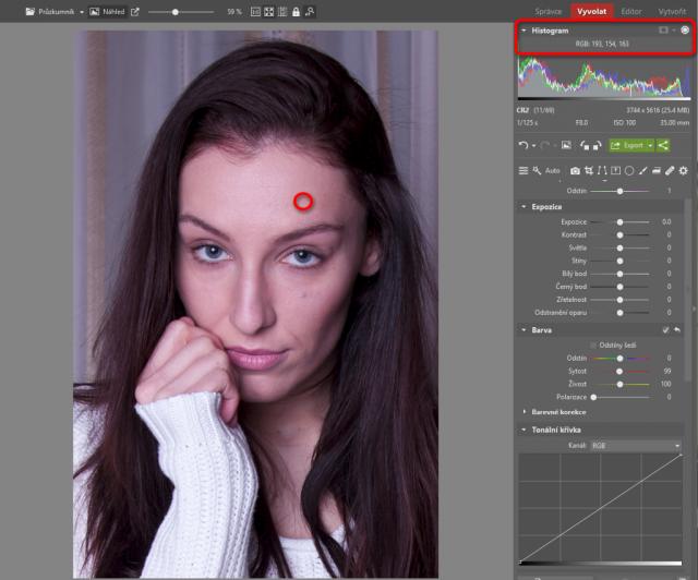 Jak upravovat portréty: hodnoty RGB.