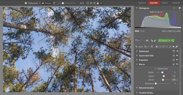 Základní úpravy fotek z mobilu: úprava barev.