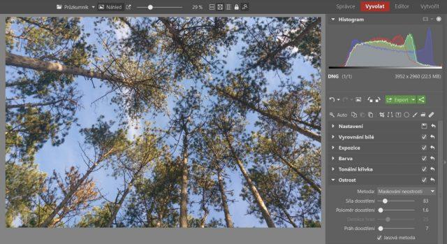 Základní úpravy fotek z mobilu: doostření.