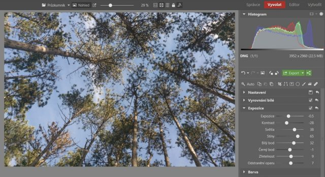 Základní úpravy fotek z mobilu: úprava expozice.