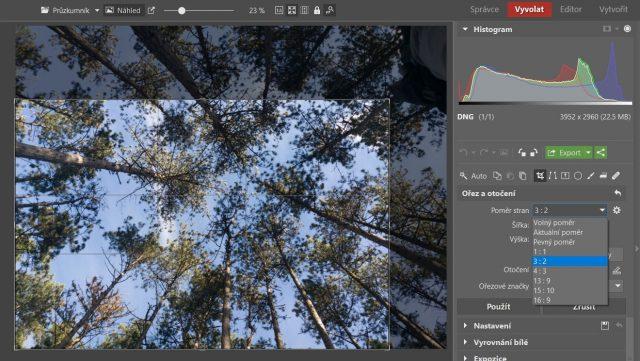 Základní úpravy fotek z mobilu: ořez.