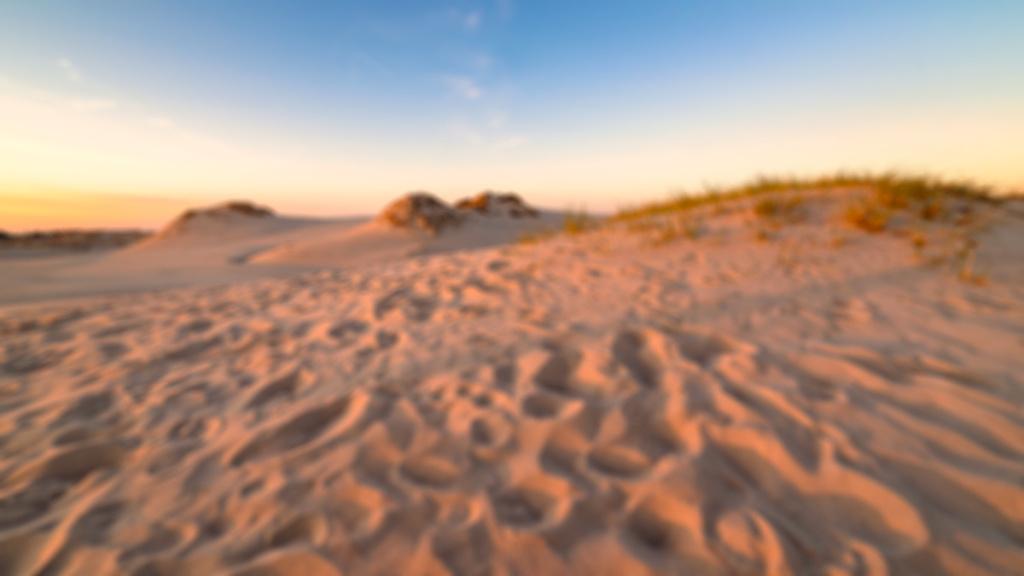 3 nejčastější chyby při focení krajiny: rozmazaný snímek pouštní krajiny.
